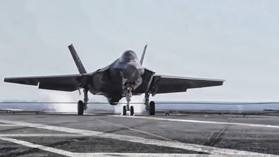 F-35 Lightning II – 1st Arrested Landing On Aircraft Carrier